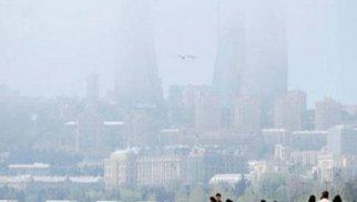 Bakıda toz dumanı müşahidə olunur – FOTO