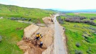 Xudafərin-Qubadlı-Laçın avtomobil yolunun tikintisinə başlanıldı - FOTOLAR