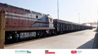 Çin-Azərbaycan ikinci konteyner blok qatarı Bakıya çatıb