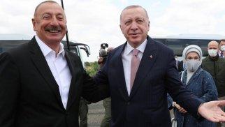 İlham Əliyev Türkiyə prezidentini Füzulidə belə qarşıladı - FOTO