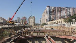 Bakıda yeni metro stansiyasının inşasına başlanıldı - FOTO