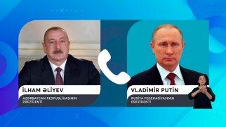 Azərbaycan Prezidenti Vladimir Putinlə bölgədəki vəziyyəti müzakirə edib